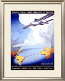 Deutches Lufthana Framed Giclee Print by Von Axster-Heudtlass