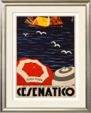 Cesenatico Framed Giclee Print by  Retrosi