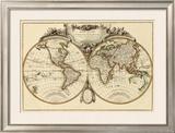 Mappemonde, c.1782 Framed Giclee Print by Jean Janvier