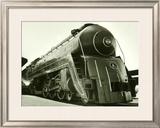 Deco Train Engine Framed Giclee Print