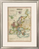 Europe, c.1820 Framed Giclee Print by John Melish