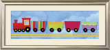Rainbow Train Posters by Jane Davies