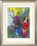 The Artist and His Model Posters by Marc Chagall