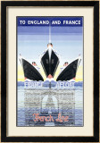 French Line Framed Giclee Print by K. Stewart