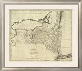 State of New York, c.1796 Framed Giclee Print by John Reid