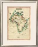 Africa, c.1820 Framed Giclee Print by John Melish