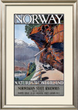 Nature's Wonderland Norwegian State Railway Framed Giclee Print by A J Green