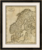 Sweden, Norway, c.1812 Framed Giclee Print by Aaron Arrowsmith