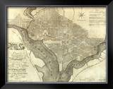 Plan of the City of Washington, c.1795 Framed Giclee Print by John Reid
