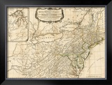 General Map of the Middle British Colonies, in America, c.1776 Framed Giclee Print by Robert Sayer