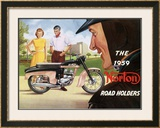 The 1959 Norton Road Holders Framed Giclee Print