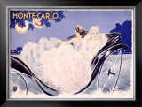 Monte Carlo Framed Giclee Print by Louis Icart
