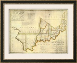 The State of Indiana, c.1817 Framed Giclee Print by W. Shelton