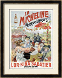 La Micheline Framed Giclee Print by C. H. Beauvais