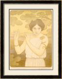La Joyeuse de Flute Framed Giclee Print by Paul Berthon