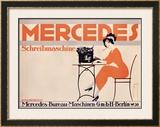 Mercedes Typewriter Framed Giclee Print