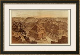 Grand Canyon: Panorama from Point Sublime (Part I. Looking East), c.1882 Framed Giclee Print by William Henry Holmes