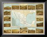 Carta Minera, c.1885 Framed Giclee Print by Antonio Garcia Cubas