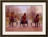 Winter Training Framed Giclee Print by Joan Macintyre