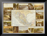 Carta Hydrografica, c.1885 Framed Giclee Print by Antonio Garcia Cubas