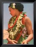 Hawaiian Charming Customs Framed Giclee Print
