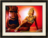 Pin-Up Girl: Holly Marilyn Tiki Framed Giclee Print by Octavio Arizala
