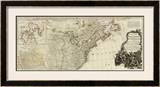New Map of North America, with the West India Islands (Northern section), c.1786 Framed Giclee Print by Thomas Pownall