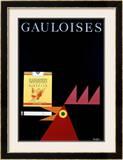 Gauloises Framed Giclee Print by Donald Brun