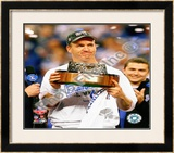 Peyton Manning with the 2009 AFC Championship Trophy Framed Photographic Print