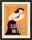 Colette Willy Framed Giclee Print by Semenov