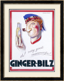 Ginger-Bilz Framed Giclee Print by Achille Luciano Mauzan