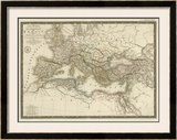 Empire Romain sous Constantin, c.1822 Framed Giclee Print by Adrien Hubert Brue