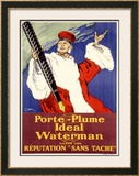 Porte-Plume Ideal Waterman Framed Giclee Print
