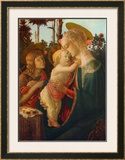 Madonna and Child with St. John Art by Sandro Botticelli