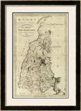 State of New Hampshire, c.1796 Framed Giclee Print by John Reid