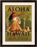 Aloha Hawaii Framed Giclee Print