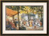 Le Marche aux Fleurs Prints by Eugene Auguste Deully