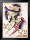 Mitty Tillio and Ricaux Framed Giclee Print by Paul Colin