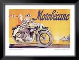 Motobecane Framed Giclee Print by Geo Ham