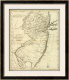 State of New Jersey, c.1796 Framed Giclee Print by John Reid