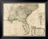 General Map of the Southern British Colonies, in America, c.1776 Framed Giclee Print by Robert Sayer