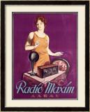 Radio Maxim Framed Giclee Print by  Ernst