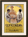 Concordia Framed Giclee Print by Leopoldo Metlicovitz