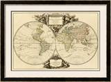 Mappemonde, c.1752 Framed Giclee Print by Robert De Vaugondy