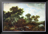 The Water Mill Prints by Meindert Hobbema
