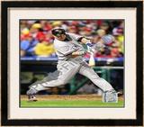 Nick Swisher Game three of the 2009 MLB World Series Framed Photographic Print