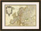 L'Europe, c.1782 Framed Giclee Print by Jean Janvier