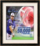 Peyton Manning 50,000 Yards Framed Photographic Print