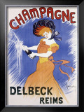 Champagne Delbeck Reims Framed Giclee Print by Leonetto Cappiello