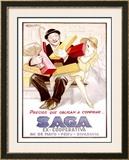 Saga Framed Giclee Print by Achille Luciano Mauzan